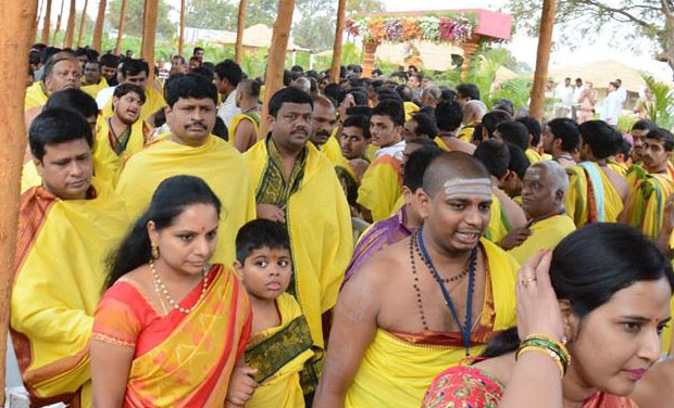 Massive arrangements have been made for the 'yagam' in the sprawling premises at Rao's farm house at Erravelli village in Medak district. President Pranab Mukherjee would visit the place on December 27. (Photo: Facebook)