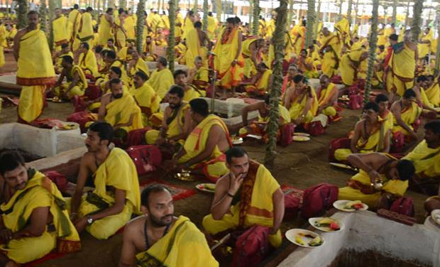 About 2,000 priests from Telangana, Andhra Pradesh, Maharashtra, Karnataka and Tamil Nadu are taking part in the mega 'yagam' being performed for people's welfare and universal peace. (Photo: Facebook)