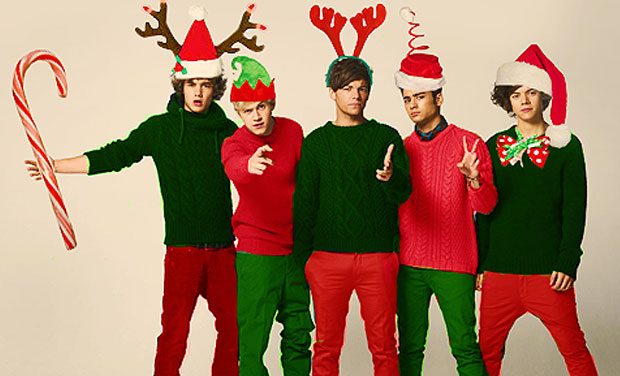 One Direction sing Christmas song