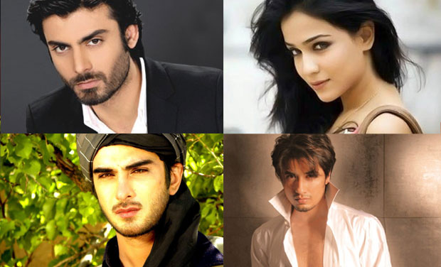Artists from across the border: Fawad Khan, Humaima Malik, Ali Zafar and Imran Abbas (clockwise).