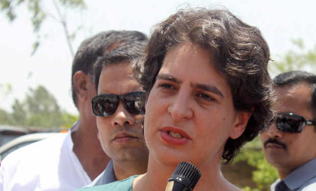 Priyanka Gandhi during an election campaign. (Photo: PTI)