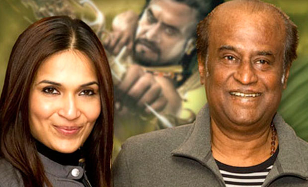 Soundarya with her father, Rajinikanth.