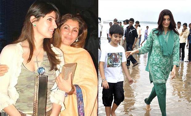 Twinkle Khanna Kids Striking a bala...