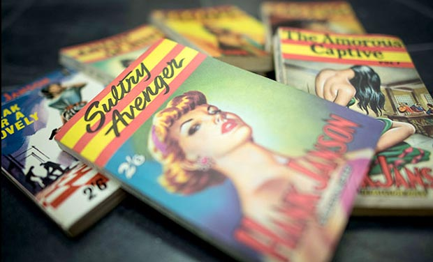 Vintage pornographic magazines on show at Ram Books in north London. (Photo: AFP)