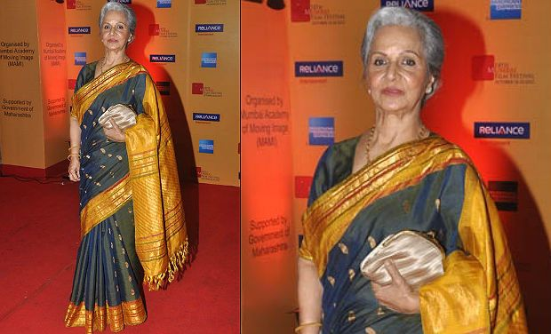 Veteran actress Waheeda Rehman. Photo courtesy: Varinder Chawla