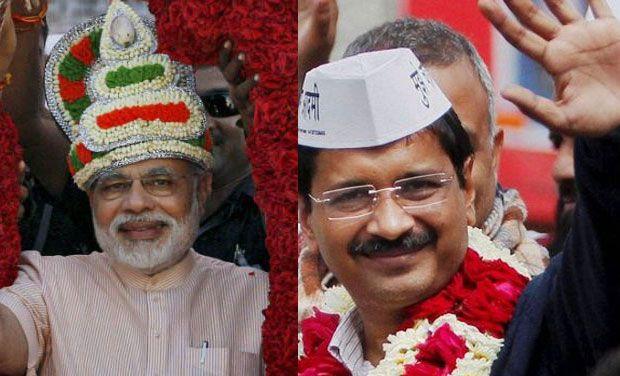 BJP's prime ministerial candidate Narendra Modi and AAP leader Arvind Kejriwal. (Photo: PTI/DC)